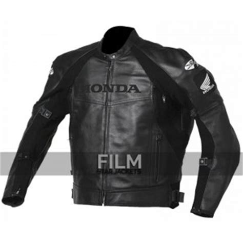 Black Hawk Leather Black Blue black and white ducati corse biker leather jacket
