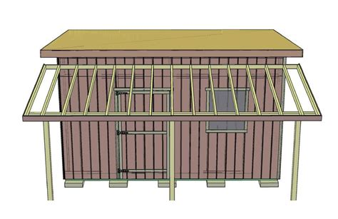How To Put A Shed Together by How To Add A Porch Overhang To Your Shed
