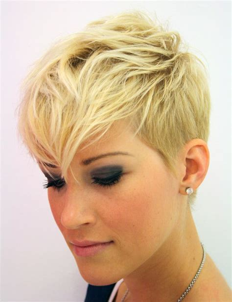 short hairstyles images only pixie with shaved sides long bangs growing out