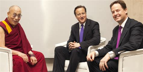 Cameron Award Tension by Uk Dalai Lama Visit Causes Diplomatic Tension With China