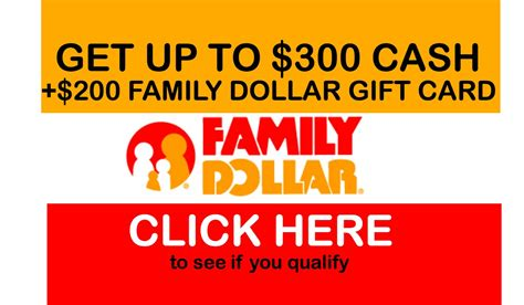 Family Dollar Gift Card - family dollar cash settlement free 45 300 cash 200