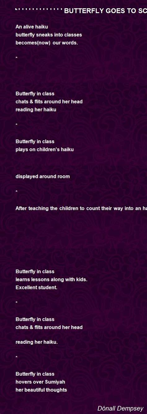 haikus 101 haikus to get you through the day books butterfly goes to school haiku sequence poem