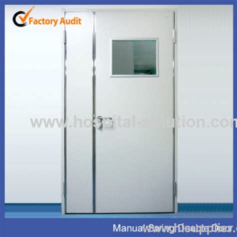 air tight door design hospital hermetic sealed manual swing door for