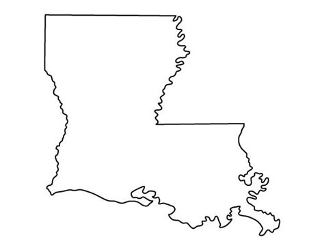 printable state shapes louisiana pattern use the printable outline for crafts