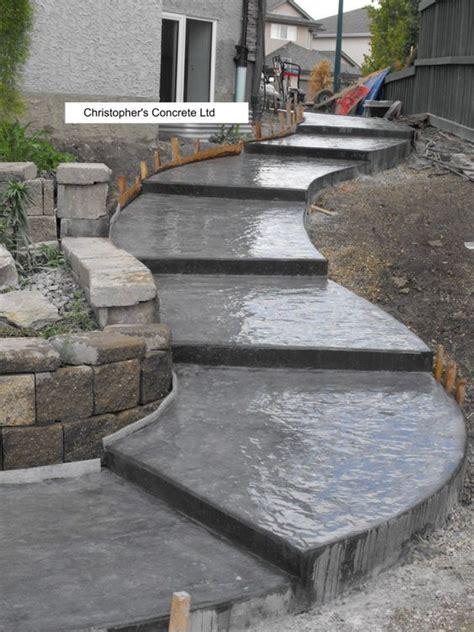 Concrete Patio Finishes Ideas by Pictures Of Concrete Patios W Steps Sidewalk Steps