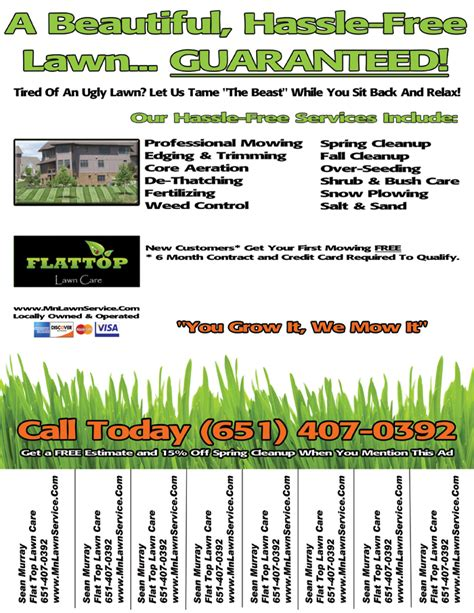 lawn care flyer template lawn care service flyer template