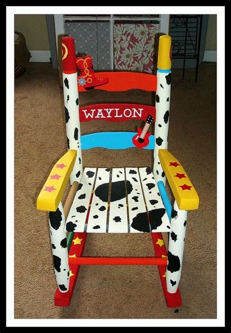 toy story sofa chair custom painted rocking chair for my nephew find me on
