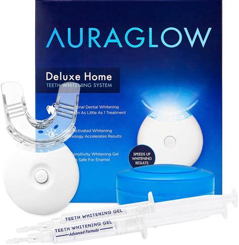 Whitening Kit auraglow teeth whitening gel syringe refill