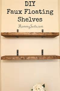 diy faux floating shelves suite