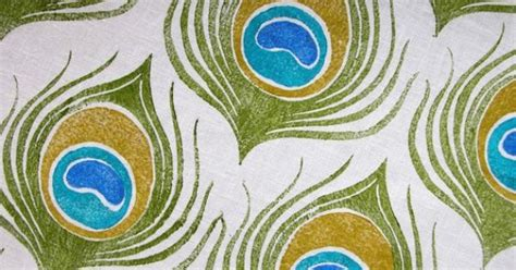 Linen Ruby Bulu Feather 1 peacock feather fabric ideas blue bathroom