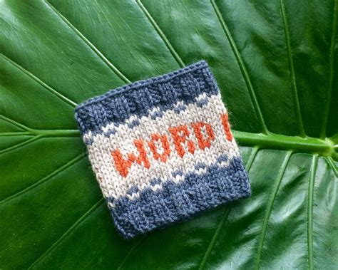 knitting pattern words knit your own quot word nerd quot drink sleeve free pattern