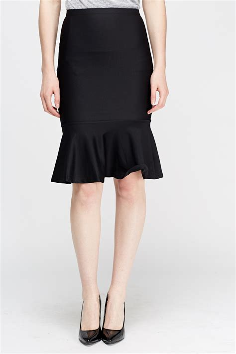 Flare Skirt Midi Excellent Quality flare hem midi skirt black just 163 5