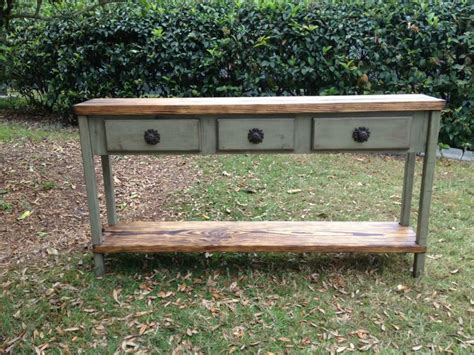 distressed wood sofa table distressed wood console table or sofa table 60 inch