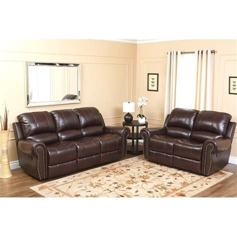 Top Grain Leather Sofa Recliner Top Grain Leather Reclining Sofa Loveseat Set Ch 8811 Brg 3 2