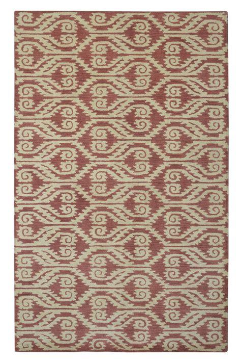 adeline rug modern marvel ikat adeline wool rug rust ivory 8 x 10
