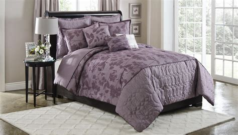 plum bedding cannon plum silhouette 6 pc comforter set full queen king 6