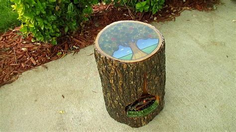 tree stump side table youtube