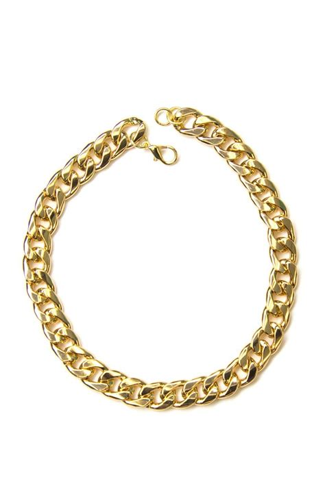heavy tight chain link necklace haute rebellious