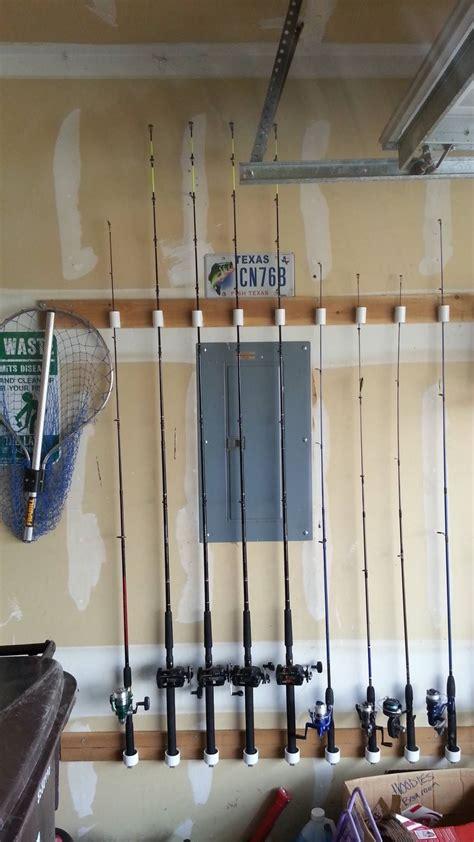 Fishing Pole Garage Storage Ideas My Friend David Reyes Made This Fishing Pole Holder