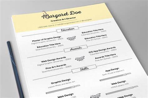 vintage resume letter template resume templates on creative market