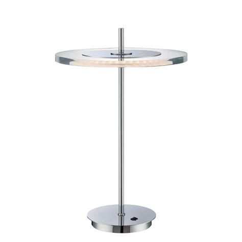 illumine 18 in chrome table l with clear acrylic cli