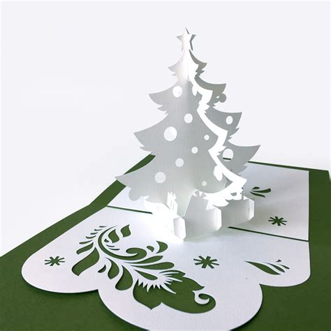 Templates Tree Pop Up Card Template 2