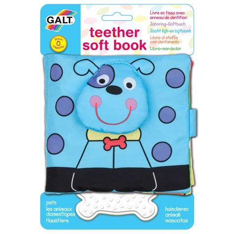 galt toys years 1004078 teether soft book pets toys learning development