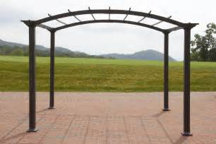Gazebos Steel Frame by Garden Oasis 8 X 10 Arched Steel Pergola Dark Brown