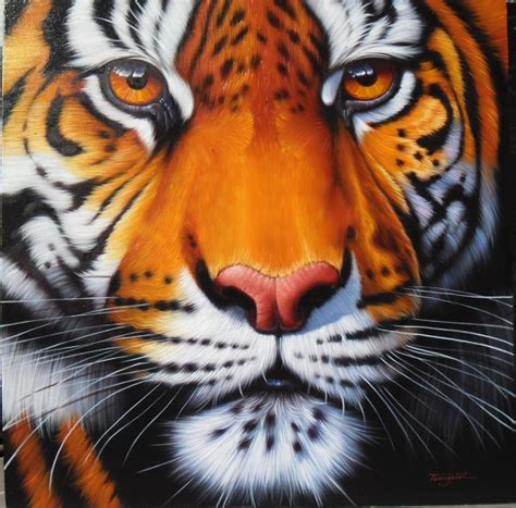 tiger paint tiger painting painting on canvas 40x40