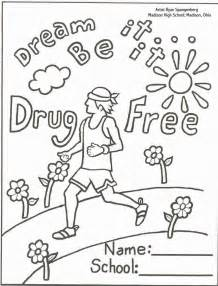 Just say no to drugs colouring pages