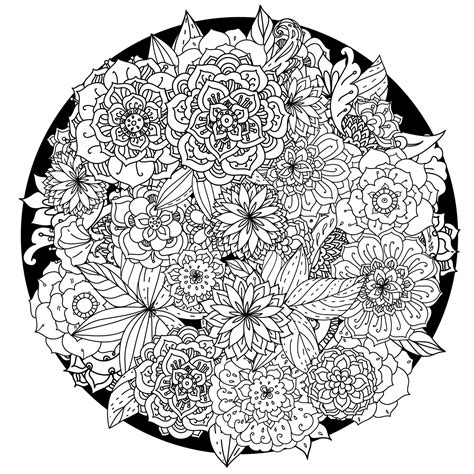 free mandala coloring pages for adults flower mandala coloring pages coloringsuite
