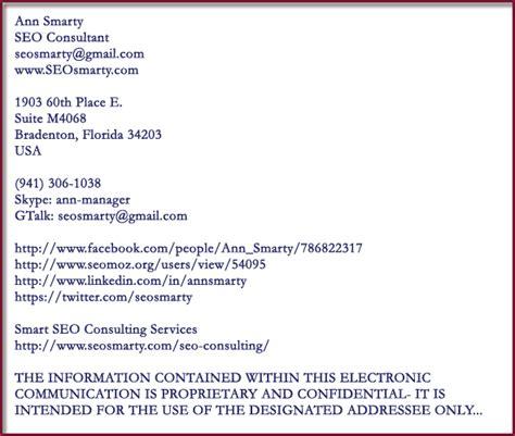 sle email signature email signature disclaimer exles