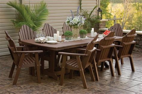 Tropical Patio Furniture Orchid Polywood Outdoor Dining Set Tropical Outdoor Dining Sets Ta By Dutchcrafters
