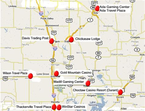 map oklahoma casinos search results for map of casinos in oklahoma calendar