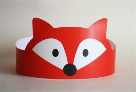 Paper Crown Craft - fox paper crown printable glitter hunt s and dramas