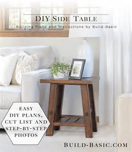 Diy Side Table by Build A Diy Side Table Build Basic