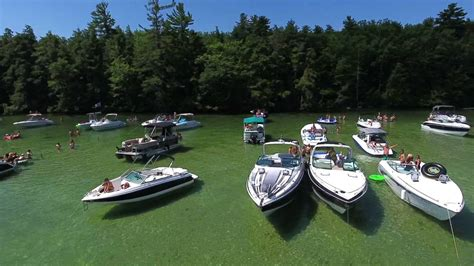 boat slip nh lake winnipesaukee braun bay drone footage summer days