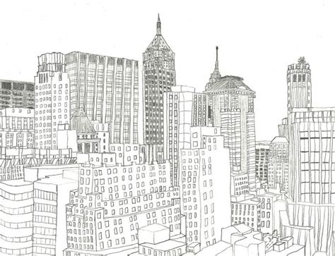 adult coloring page new york financial district 13