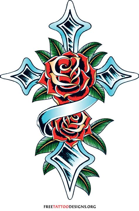 rose and cross tattoo meaning 50 tattoos meaning