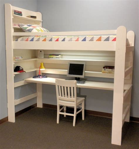 loft bed with desk plans do it yourself bunk bed ideas woodworking projects plans