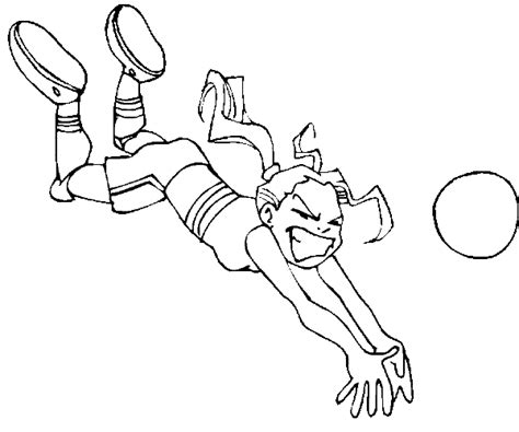 coloring pages volleyball girl play volleyball colouring pages