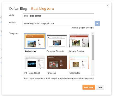 tutorial tentang blogger cara mudah membuat blog gratis di blogger blogspot