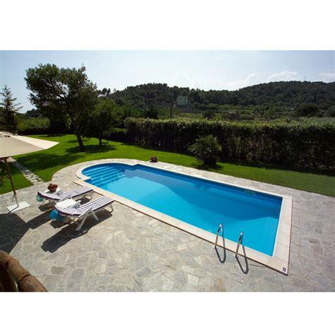piscina in piscine interrate in pannelli di acciaio a skimmer con