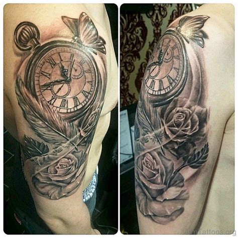 tattoo feather clock 50 brilliant clock tattoos on arm