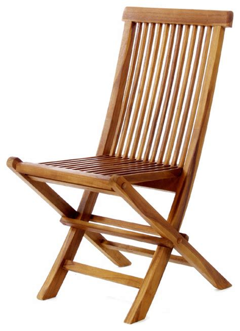 Teak Folding Chairs by All Things Cedar Tf22 Teak Wood Folding Chair Modern