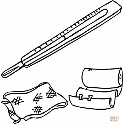 band aid coloring page coloring home