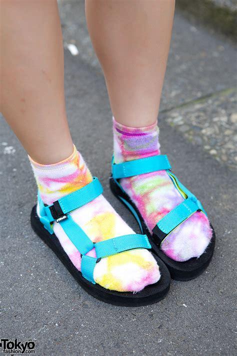 sandals and socks elleanor s rainbow tails r3id top teva sandals