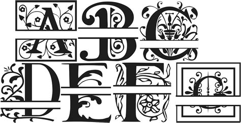 free printable monogram alphabet letters wedding monogram fonts free download www imgkid com