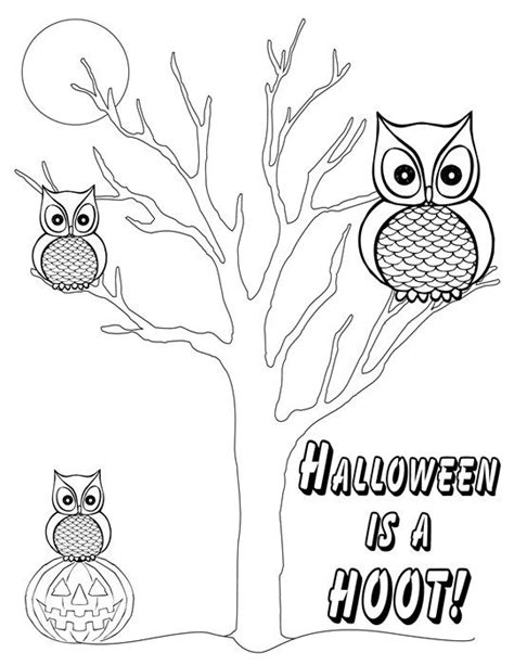 halloween coloring pages owl quot halloween is a hoot quot free printable halloween coloring
