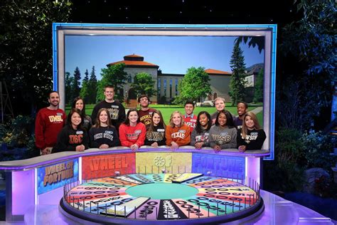 Around The House Wheel Of Fortune by Students Spin The Wheel For National Competition The